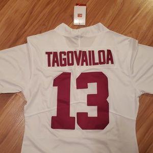 Nike Tops - New! Alabama Crimson Tide white Tua jersey! 2xl!